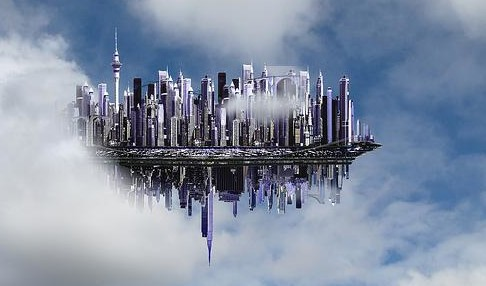 Floating Inter-dimensional City Seen…